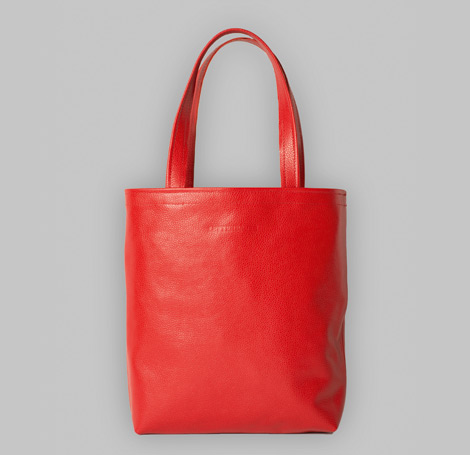 Rote Ledertasche 8
