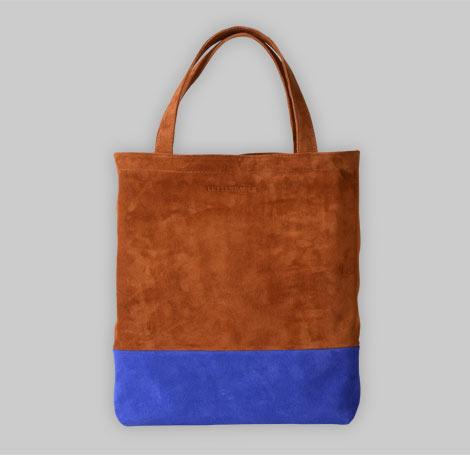 Zweifarbige Wildledertasche 4